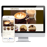 カフェのホームページデザイン例